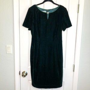 Maggie London Size 10 Green Velvet Dress